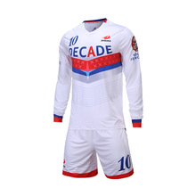 2016 New Flexible and Quick dry Long sleeve Mens Football Uniforms Set