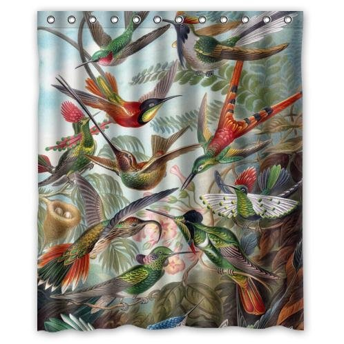 Hot Sale Special Vintage Hummingbird Waterproof Bathroom Decor,Polyester  Fabric Shower Curtains,60(w) X 72(h) In Shower Curtains From Home U0026 Garden  On ...