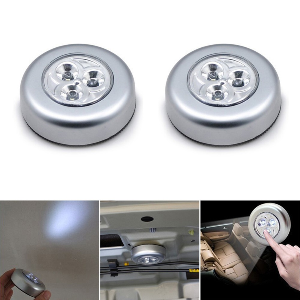 2pcs/lot car emergency lighting and backseat lamps and headlight LED cordless touch lights