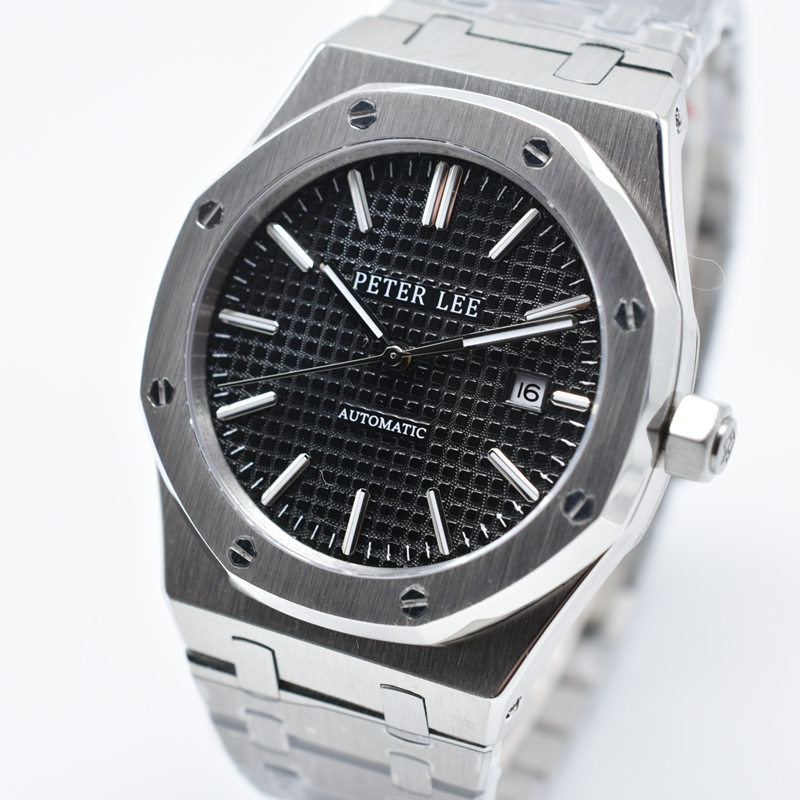 Lovenwatches | PETER LEE Nautilus Review | Brand Luxury Full Steel Silver Waterproof Automatic Mechanical Men Watches Bracelet Dial 40mm Fashion Business Clocks