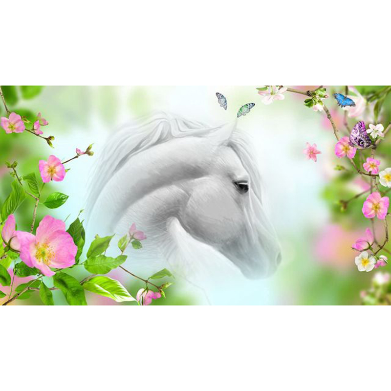 Fantasy Horse Diy Diamond Painting Full Drill Resin Pasted Embroidery Cross Stitch Kits Animal 5D Painting Hoe Decor Crafts