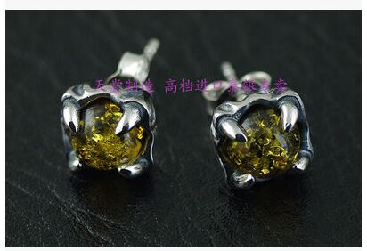 925 sterling silver Quality natural inlay Thai silver earrings.1 Pair уровень dll 0 8 l defort 98293500