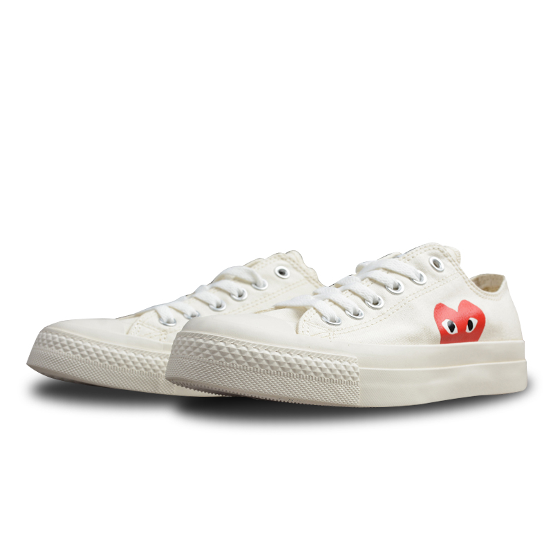 56caf8695d4 Converse CDG X Chuck Taylor 1970s HiOX 18SS Skateboarding Shoes Sport White  Authentic For Men And Women Unisex 150210C 35-44