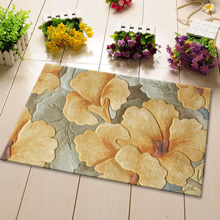 ALITEXTILEBTOC 100% Wool Plus Size Carpets For Parlor Living Room Rectangle Hand Carved Carpet Comfortable Floral Non-slip Mat