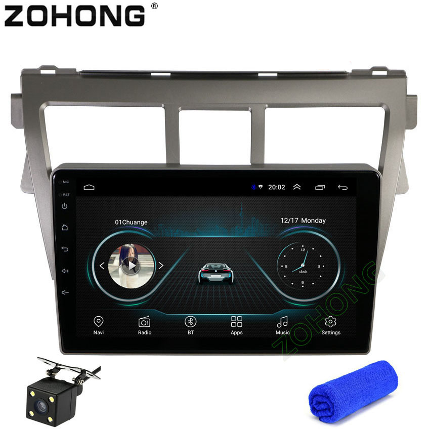 9inch 2 5D Android8 1 car dvd Multimedia player GPS for Toyota Vios Yaris Belta CAR