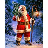 Free Shipping Santas Christmas Tree Diamond Embroidery DIY Needlework Diamond Painting Cross Stitch 3D 5D Rhinestones