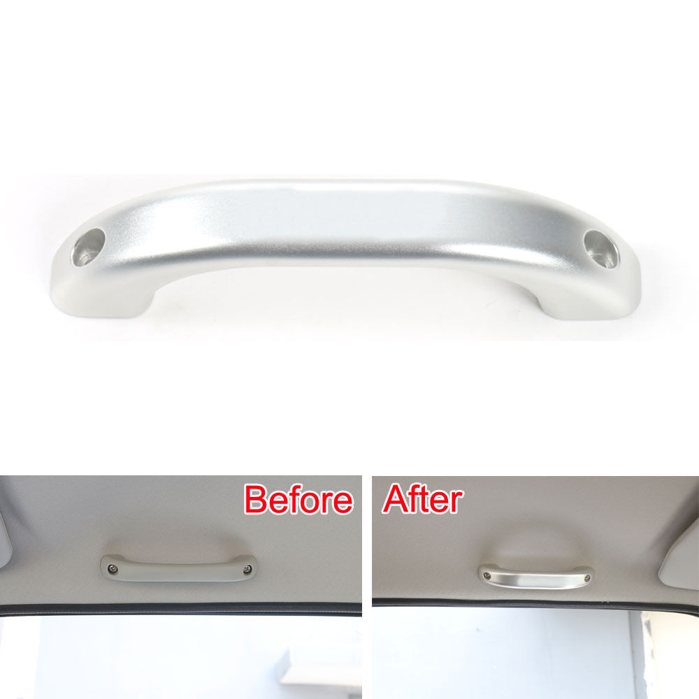 Bbq Fuka Interior Inner Car Door Roof Handle Grip Bar Cover Trim For Jimny 07 2015 Silver Red