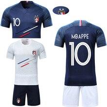 bdaa383d5 Men adult Boys Soccer Sets France 2 Stars custom Print Training game Jerseys  Kids Football Shirts