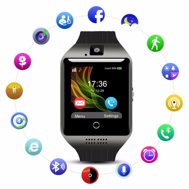 208da2ec0231ae 2018 Best Bluetooth Android Smart Watch Touch Screen Larger LED Fitness  Tracker Mobile Cell Phone Smartwatch for Men Smat Watch-in Smart Watches  from ...