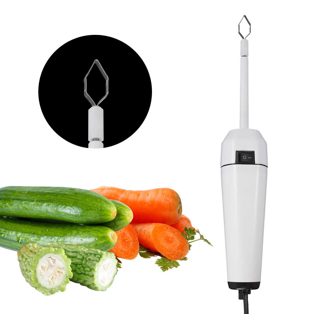 Zucchini Squash Vegetable Corer 3 pcs Corers Stainless Steel Core Remover Tool Kitchen Stuffed Vegetables Veggies Seed Remover Remove Seeds Eggplant Cucumber 8 Long Coring Tools Gadgets Drill