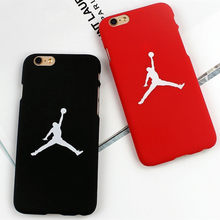 Jordan Caso de Telefone Duro Tampa Traseira Fina Para Iphone 5S Coque Para Apple Iphone 6 6 s 7 Plus 8 além de 5 SE 6 6 s plus Shell Sacos(China)