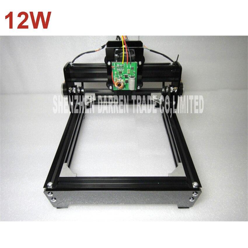 12W mini laser engraving machine DIY laser marking machine miniature cutting plotter engraving iron, ceramics, stone, wood, etc.