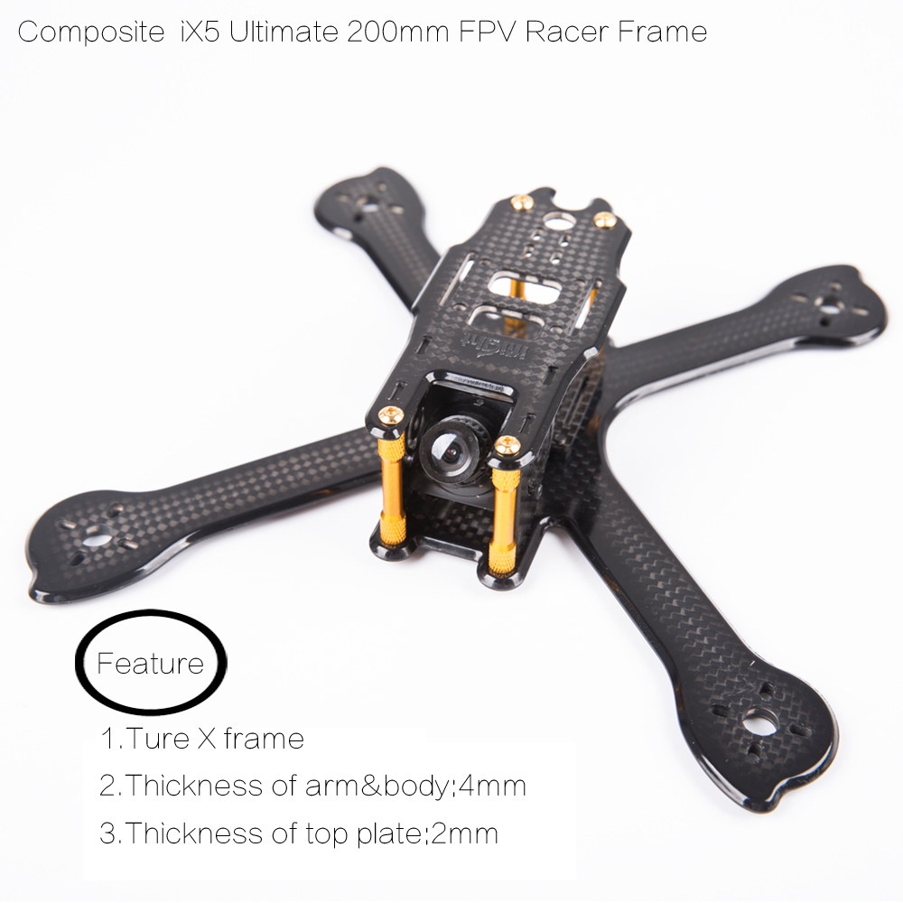 Ture X Composite material Ultimate iX5 200m FPV Racing Frame Kit with 4mm arm compatible battery protect plate for fpv racing
