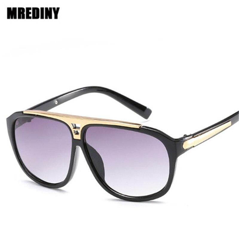 Top qualité Hommes lunettes de Soleil 2018 Marque Design Grand carré semi lunettes de Soleil sans monture Hommes Femmes de luxe unisexe UV occhiali da semelle