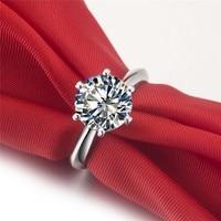 0,6 3 карат mossanite Драгоценный Камень Обручальное Настоящее 585 кольца, кольца для женщин, модное кольцо,