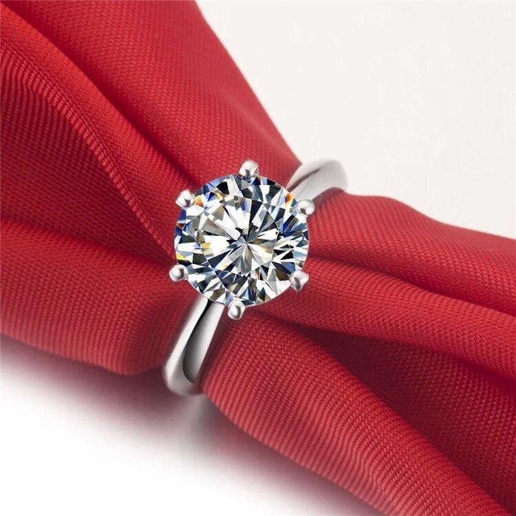 3 carats mossanite Gem fiançailles de mariage véritables 585 bagues, bagues pour femmes, bague de mode,