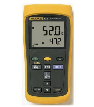 Fast arrival FLUKE 52-II F522 Dual Input Digital Thermometer with Two 80PK-1 thermocouples F52-2 Thermocouple Thermometer