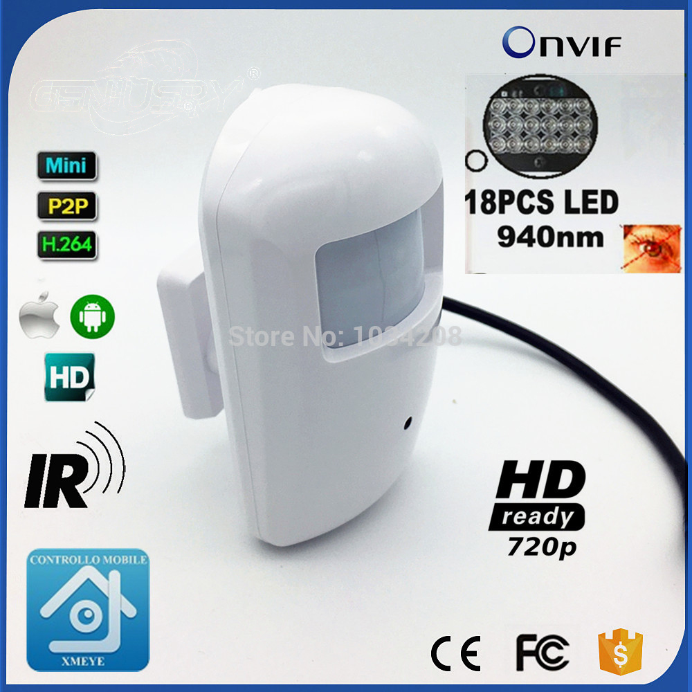720P IR 940nm Leds 1.0MP Onvif Cctv Ir PIR Mini Ip Camera Microphone Micro Cam IR CUT Night Vision IP CAMERA
