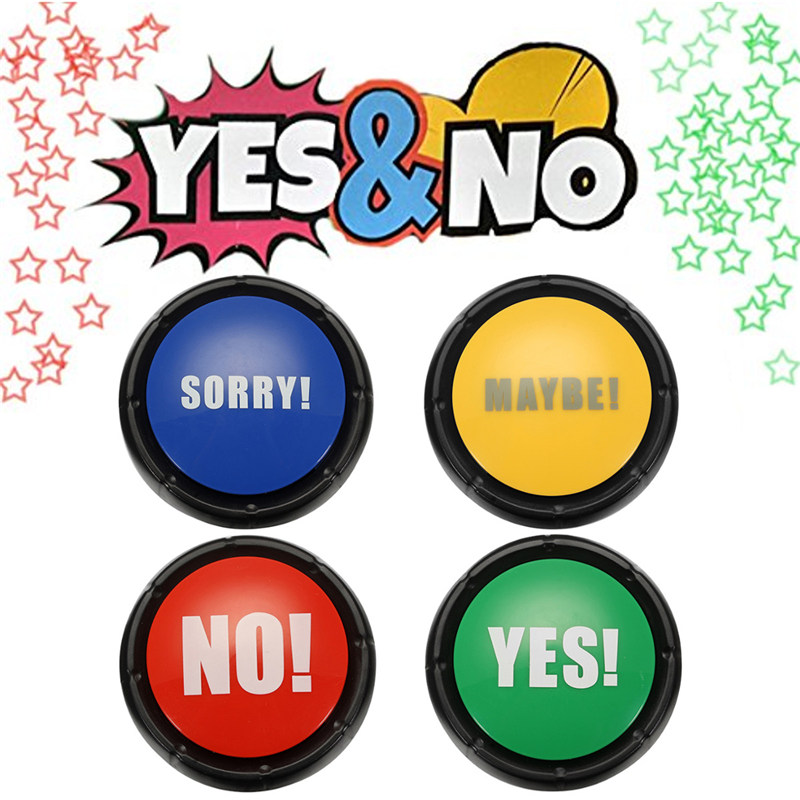 Newest Board Games Gift 4pcs NO YES MAYBE SORRY Sound Button Event Game Party Tools Christmas Bar Games Holiday Supplies Toy