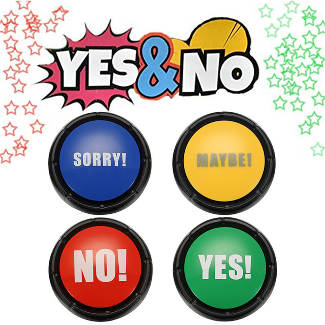 Newest Board Games Gift 4pcs NO YES MAYBE SORRY Sound Button Event ...