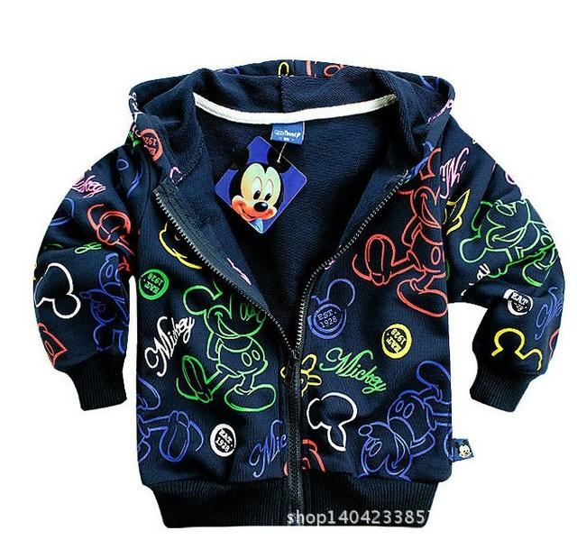 Varejo 2014 outono crianças camisola, Meninos e meninas de lã com zíper camisola com capuz, Moda dos desenhos animados casaco