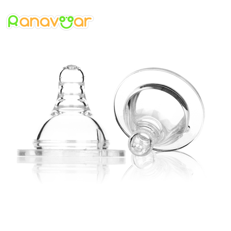 Wide Mouth Baby Nipple Round And Cross Hole Silicone Infant Pacifier Milk Bottle Nipples ...