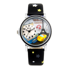 MINI Kids Watch Children Watch Fashion Cute Simple Girls Water resisitant Korea design travel car tower Leather clock
