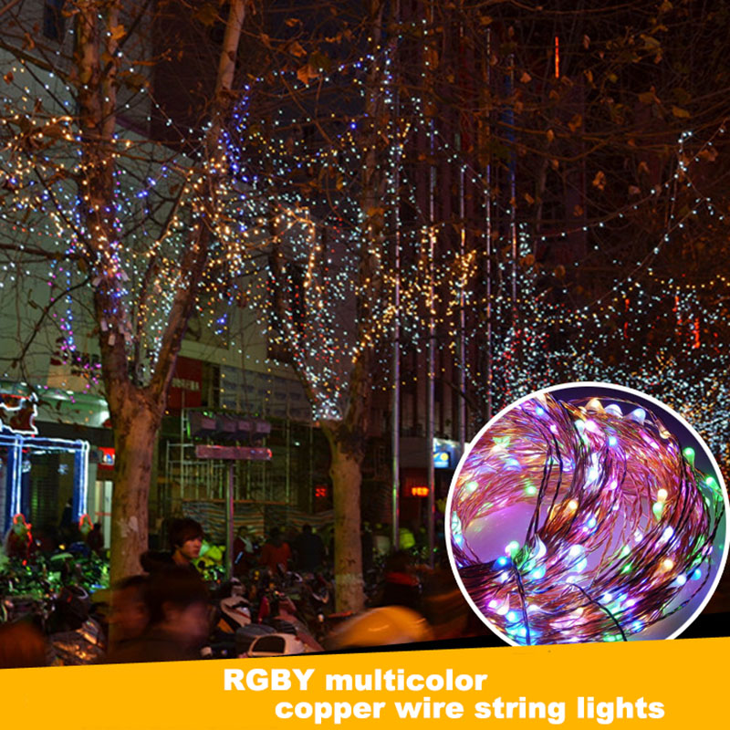 6m 120leds Solar Copper Wire String Light Holiday