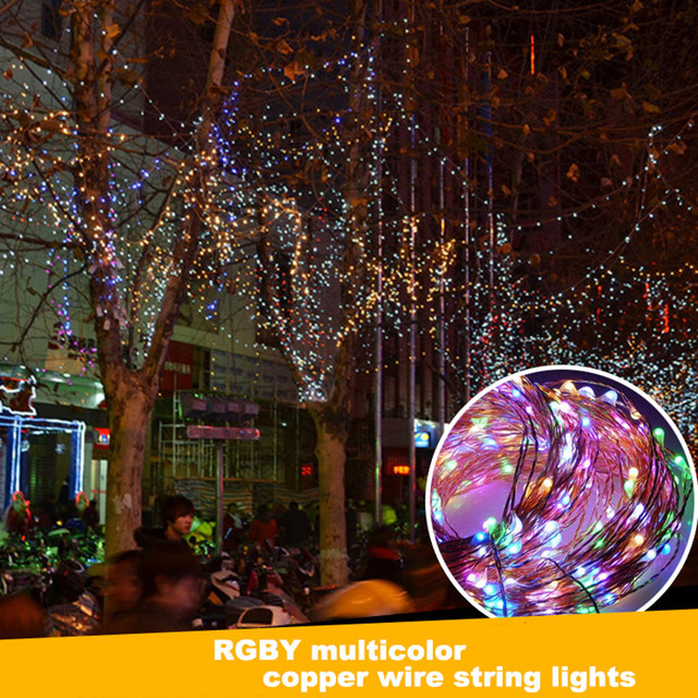 6m 120LEDs Solar Copper Wire String Light Holiday Christmas Tree Fairy Lights  Outdoor Waterproof Garden Lighting - 6m 120LEDs Solar Copper Wire String Light Holiday Christmas Tree