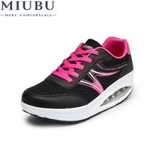 цены MIIUBU Women Flats Platform Shoes Ladies Sneakers Casual Shoes Women Footwear Height Increasing Shoes Femme