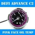 2.5 INCH 60MM Defi Advance C2 Gauge, Oil Temp Gauge / Car Oil Temperature Meter, Pink Model, White Light, DF13002