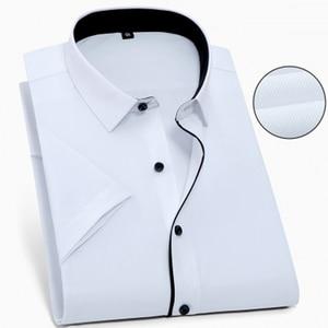 Image 2 - Camisa grande de manga corta para hombre, camisa grande de talla grande, 10XL, 11XL, 12XL, 13XL, 14XL, oficina, cómoda camisa blanca con solapa, 8XL, 9XL