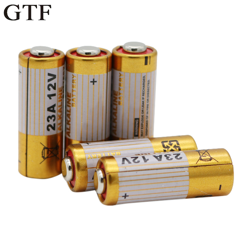 GTF 5pcs 23A <font><b>12V</b></font> Alkaline Dry <font><b>Battery</b></font> High Voltage <font><b>Battery</b></font> 23AE 21/23 <font><b>A23</b></font> V23GA MN21 for Calculators Keyfob Remotes Alarms Cell image