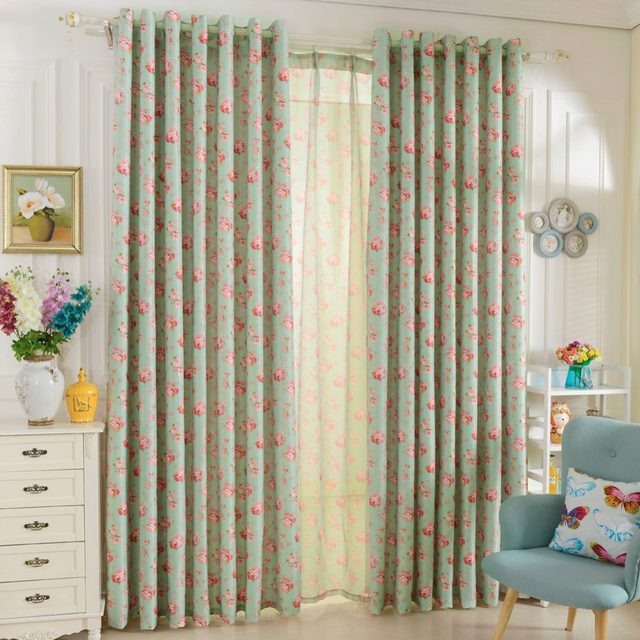 NAPEARL Short Window Curtains For Bedroom Treatment Drapery Floral Design Rustic Blackout Tulle Girls