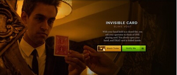 The Invisible Card by Blake Vogt magic tricks image
