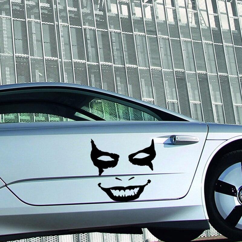 2017 Hot Sale 2x Joker Clown Face Vinyl Decal Bumper Sticker Car Truck Door Car Stying Jdm