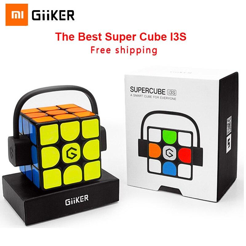Mais recente Versão Xiaomi Giiker i3s AI Inteligente inteligente Super Cubo Mágico Inteligente APP Bluetooth Sync Magnético Enigma do Brinquedo Para Crianças