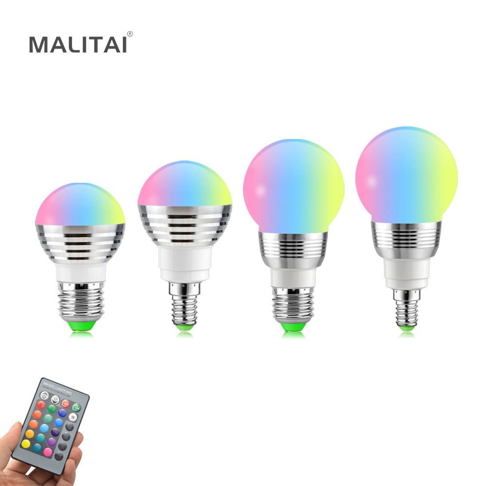 White 16 Color Led Lamp Ac85-265v Changeable Christmas New Year Light With Remote Control Led Bulbs & Tubes Tireless E27 Gu10 Led Rgb Bulb 5w 10w 15w Rgb