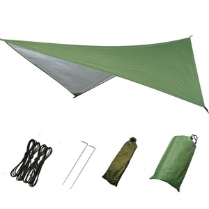 Image 3 - 1 Set Of Netting Hammock+Canopy Tent For Outdoor Camping Portable Mosquito Free Rain Fly Tarp Parachute Swing Bed Waterproof