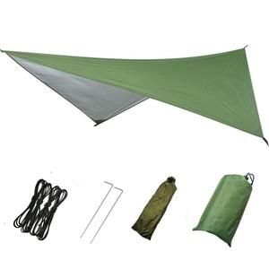 Image 3 - 1 סט של בנוטינג ערסל + חופה אוהל חיצוני קמפינג נייד יתושים משלוח גשם לטוס טארפ מצנח נדנדה מיטת עמיד למים