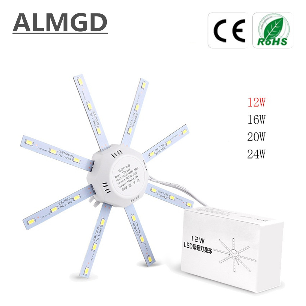 NEW 12W 16W 20W 24W LED Ceiling Lamp Modified Light Source Lamp Plate  Octopus 5730SMD Cold White 6000K for Round Kitchen Bedroom-in LED Bulbs &  Tubes from ...