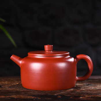 Yixing purple clay pot genuine pure hand-made original mine Dahongpao Dezhong pot Kungfu Teapot Tea Set