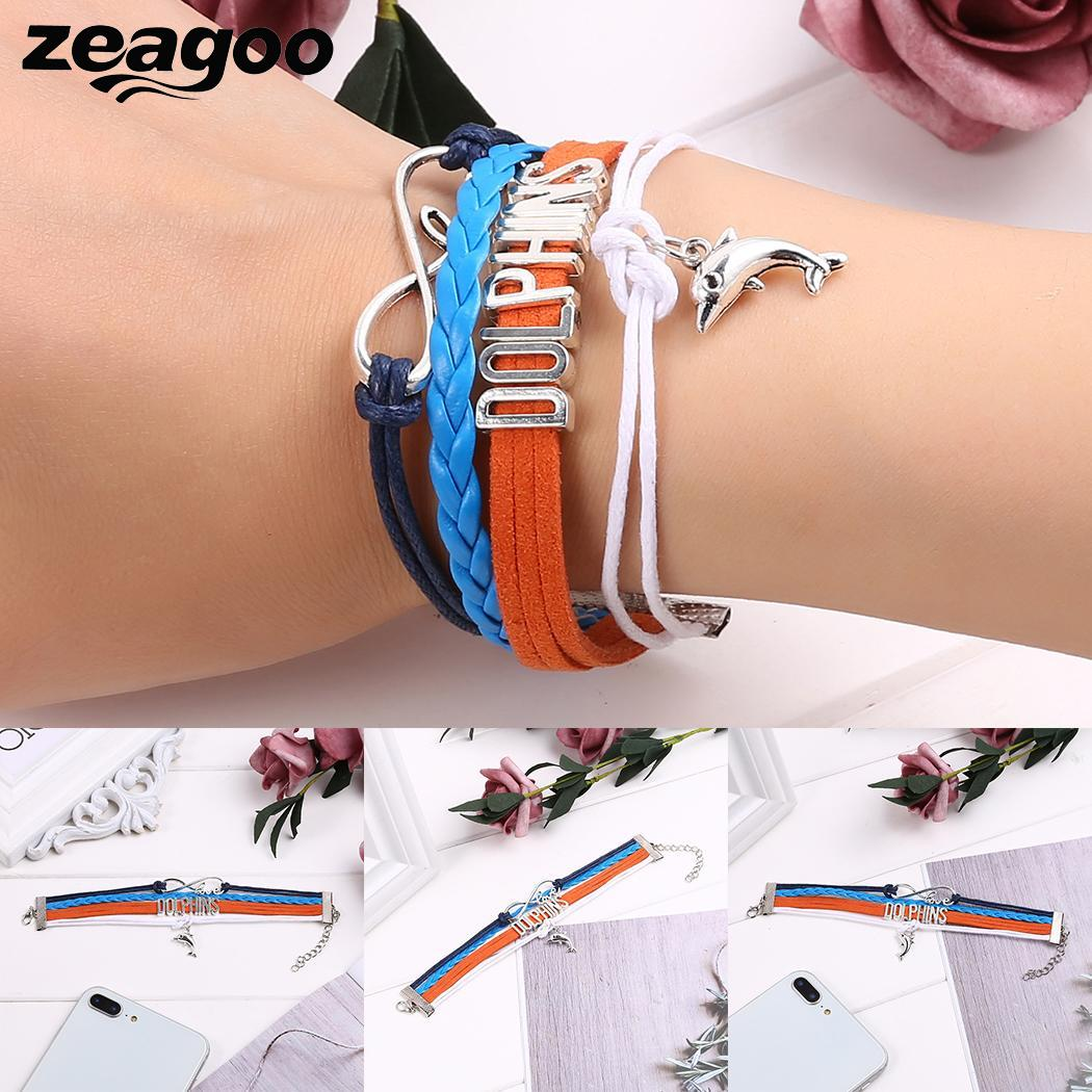 Pendant Clasp Women Bracelet Layered Braided Animal Casual Rope Claw Lobster