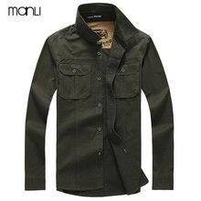 Весна, Мужская высококачественная повседневная брендовая рубашка в стиле милитари с длинным рукавом, Мужская Осенняя рубашка из хлопка, afs jeep, армейская зеленая рубашка, S-4XL