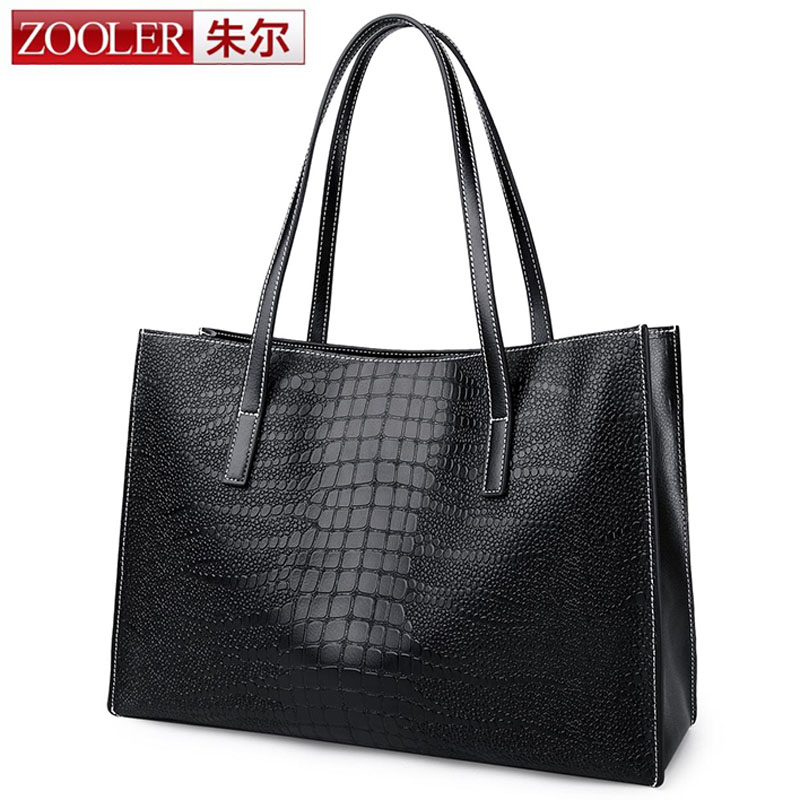 ZOOLER Genuine Leather Bag Famous Brands Women Black Big Bags Women Handbags Designer High Quality Women Bag Shoulder Bag Totes monf genuine leather bag famous brands women messenger bags tassel handbags designer high quality zipper shoulder crossbody bag