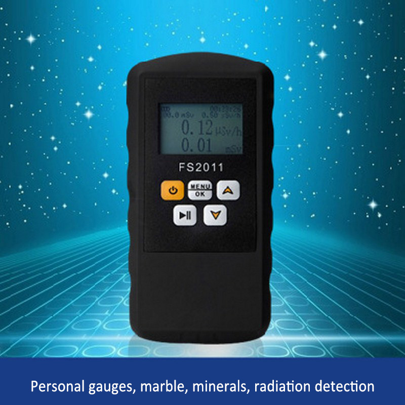 Geiger Radiation Counter Nuclear Detector Beta Gamma X ray with Alarm Marble Tester Tool LCD Display