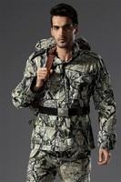 Meadow Terrain Camo Hunting Jacket Bionic Tactical Camouflage Hunting Jackets Outdoor Hunting Outwear