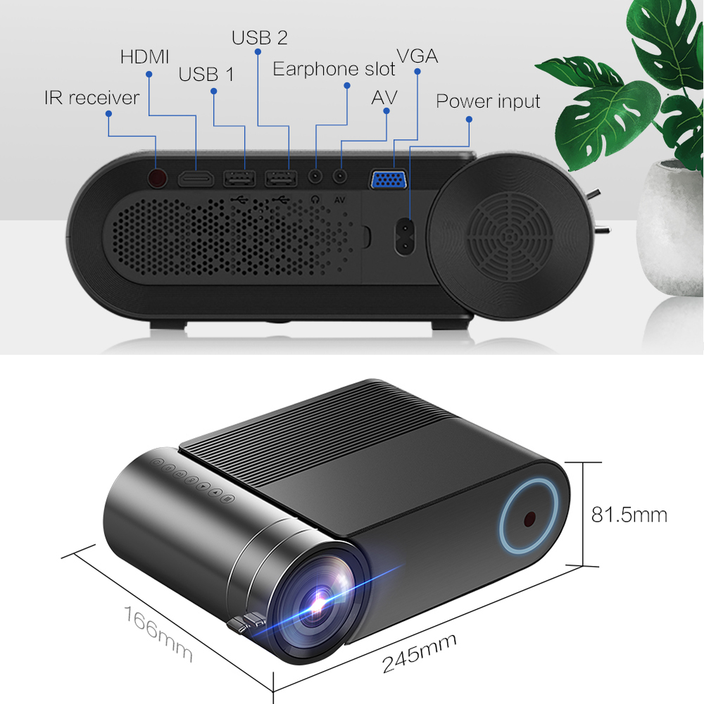 VIVICINE 720p HD LED Projector,Option Android 7 1 Portable HDMI USB 1080p  Home Theater Proyector Bluetooth WIFI Mini LED Beamer