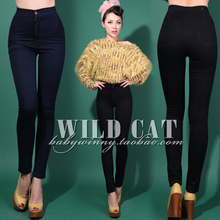FREE SHIPPING Limited edition vintage aa high waist slim hip jeans tight цена 2017