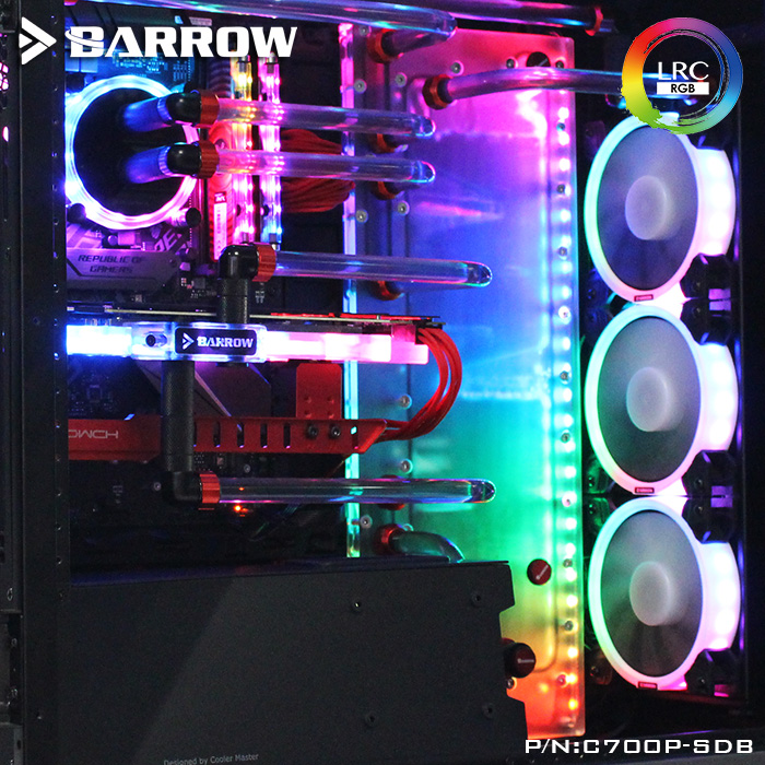 Exquisite boyfriend gift Barrow lrc 2.0 used Cooler Master computer case C700P special waterways board pc watercooling C700P-SDB цена и фото